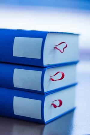 classics: plain blue books
