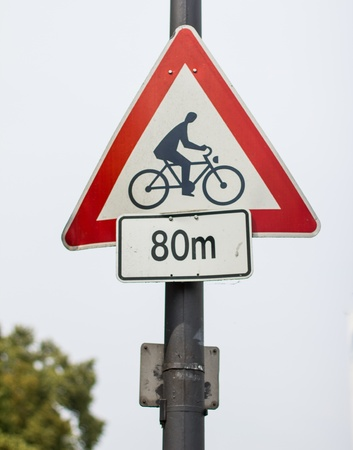 bicycle right of way sign photo