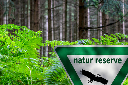reserve: nature reserve sign Stock Photo