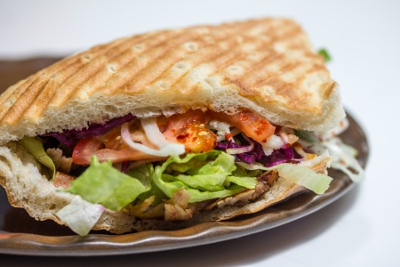 Turkse doner kebab Stockfoto