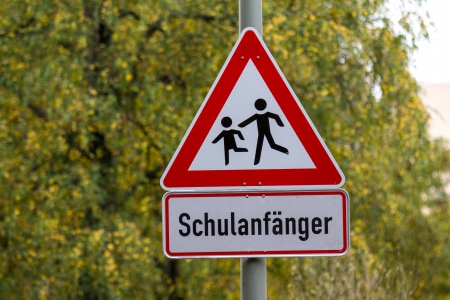 begins: german school begins sign
