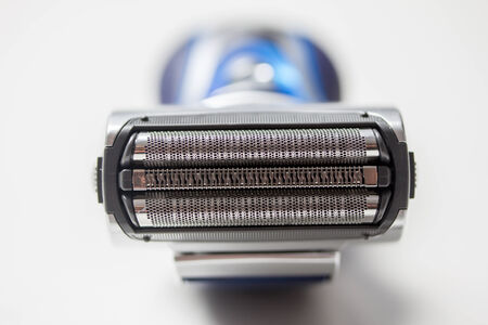 electric shaver: isolated electric shaver
