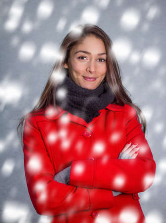 cloath: winter girl in the snow