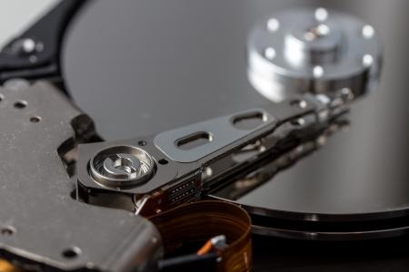 secure backup: open computer hard disk