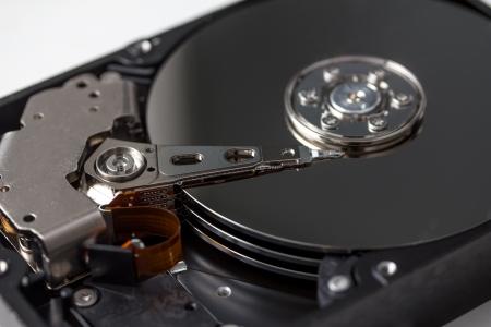 open computer hard disk