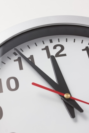 punctuality: eleven fifty-five