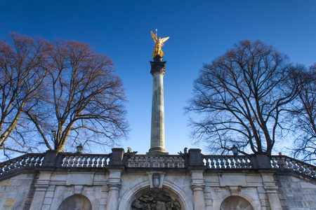 golden peace angel statue in munich Stock Photo - 24923876