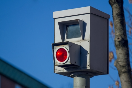 german city speed trap Standard-Bild
