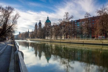 Isar river in munich