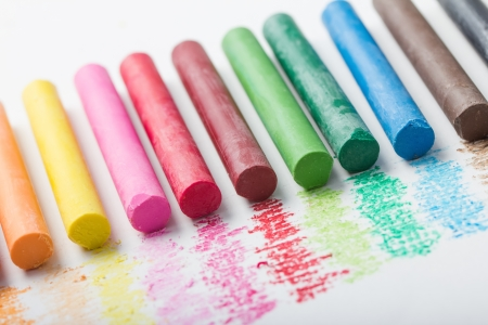 colorful oil pastels photo