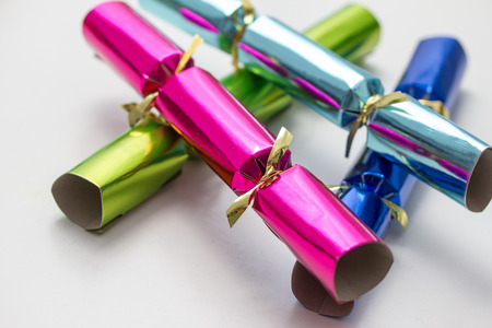 christmas cracker: christmas and party cracker Stock Photo