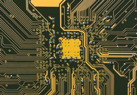 internals: computer motherboard close up