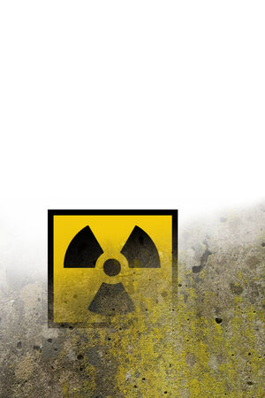 atomic danger symbol background photo