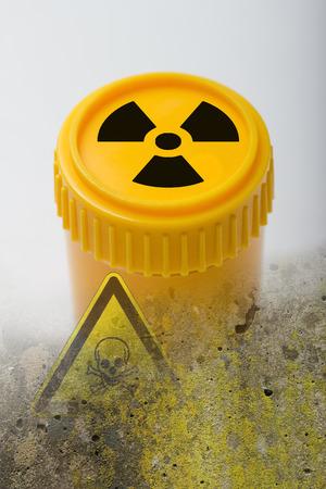 atomic waste symbol photo