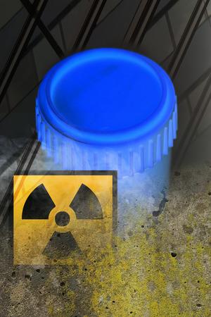 atomic waste symbol Stock Photo - 25715604