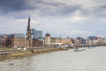 rhine westphalia: panoramic view of düsseldorf city in germany Stock Photo