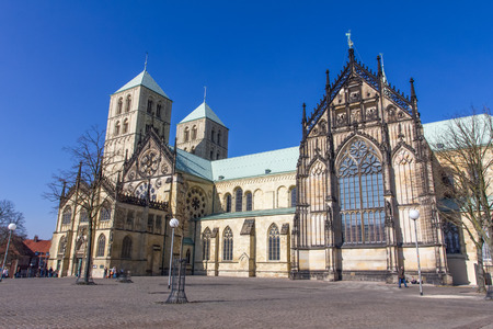Münster dom in duitsland Stockfoto