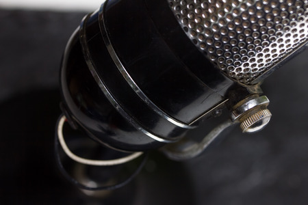 old microphone background photo