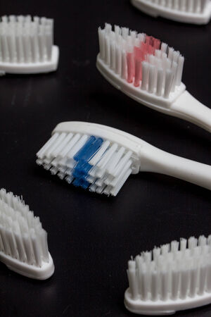 toothbrush with interchangeable brushheads photo