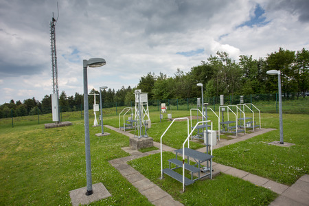 meteorological: weather station kahler asten germany Stock Photo