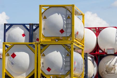 Industriële scheepvaart vloeistofcontainer Stockfoto - 29829719