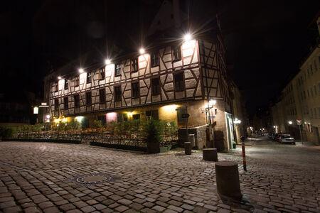 albrecht: albrecht duerer place nuernberg at night