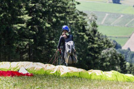 paradglider: paradglider preparing