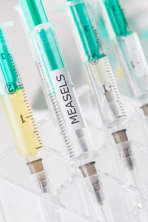 vacunacion: la vacunaci�n measels Foto de archivo