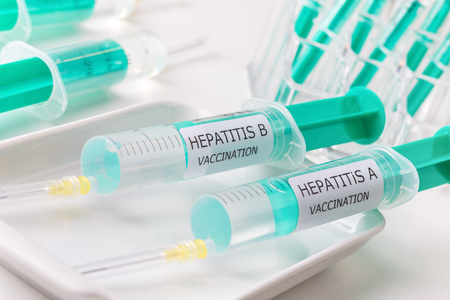 hepatitis vaccinaties Stockfoto
