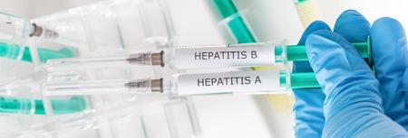 hepatitis: hepatitis vaccinations Stock Photo