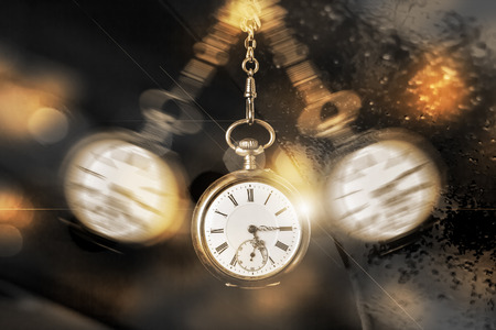 fading: times is fading pocket watch concept Stock Photo