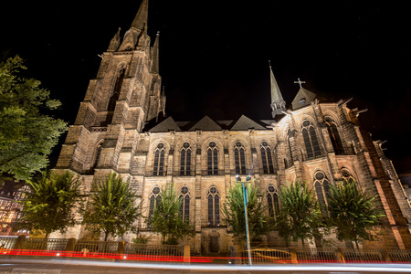 elisbethen church marburg germany at night Reklamní fotografie