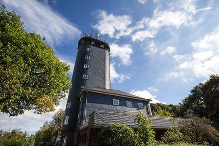 hohe bracht tower sauerland germany Stock Photo
