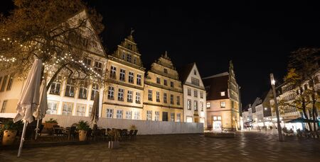 alter: alter markt bielefeld germany at night Stock Photo