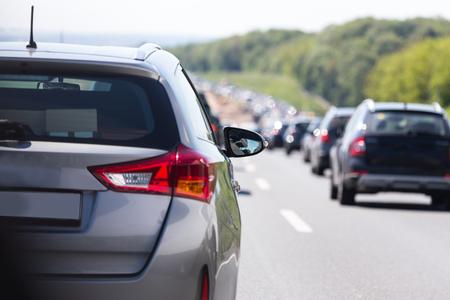 autobahn: german autobahn traffic jam