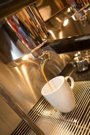 preparing coffee