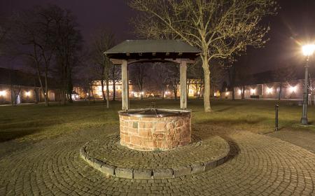 hessen: castle langenselbold germany at night