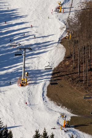chairlift: skiing chairlift background Stock Photo