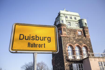 ruhrort sign duisburg germany Stockfoto
