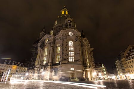 dresden frauenkirche church in the evening Standard-Bild