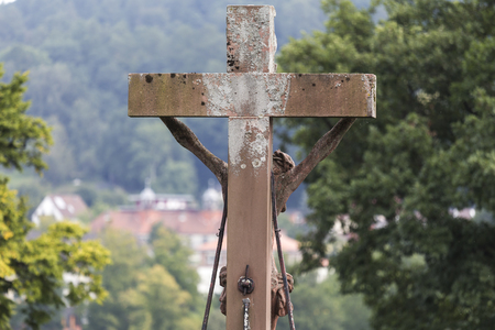 an old bavarian catholic crucifix Banco de Imagens