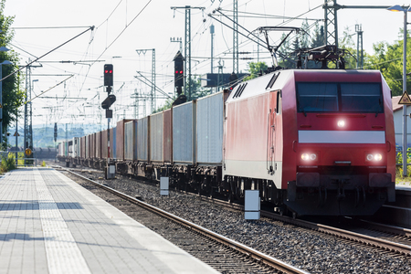 container freight train Standard-Bild