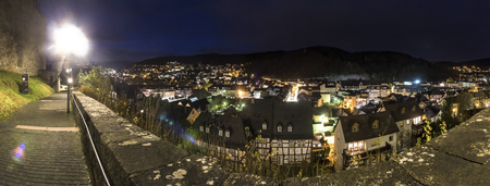 밤에 고화질 파노라마 dillenburg 독일