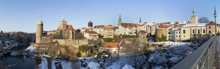 bautzen germany high definition panorama in winter Stock Photo