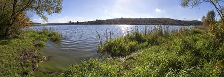 aartal lake dam hesse germany high definition panorama