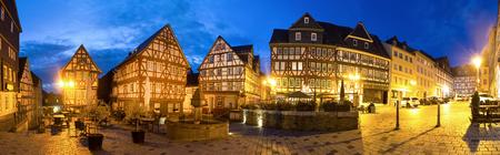 저녁 고화질 파노라마에 역사적인 습지 독일 스톡 콘텐츠