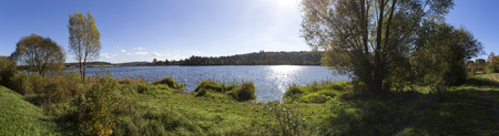 aartal lake dam hesse germany high definition panorama
