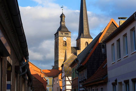 historic town burg near magdeburg germany