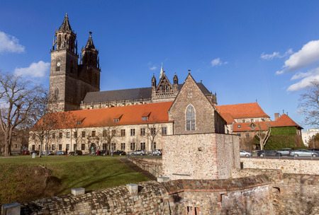magdeburg dom church germany Stock Photo