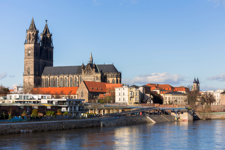 magdeburg dom church germany 写真素材